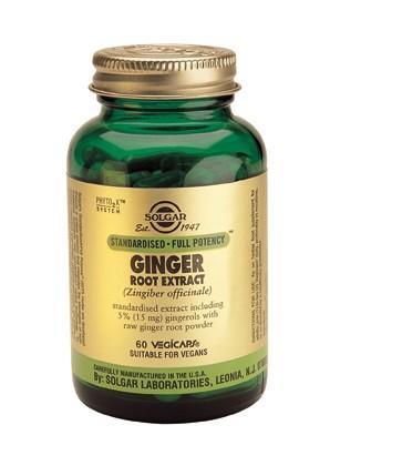 ginger-root-extract-60-vegicaps, solgar, feel healthy